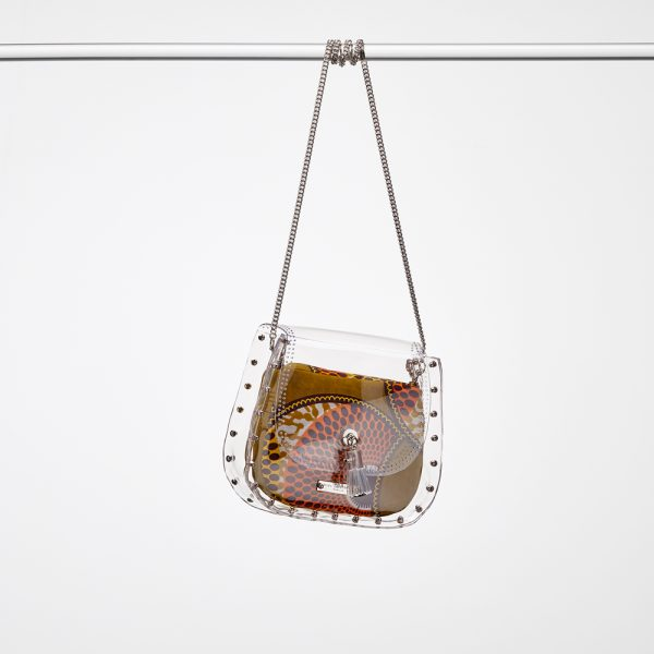 Design Caroline Transparent Handbags Silver