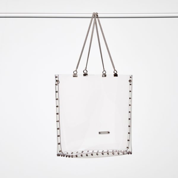 Design Sophia Transparent Handbags Silver