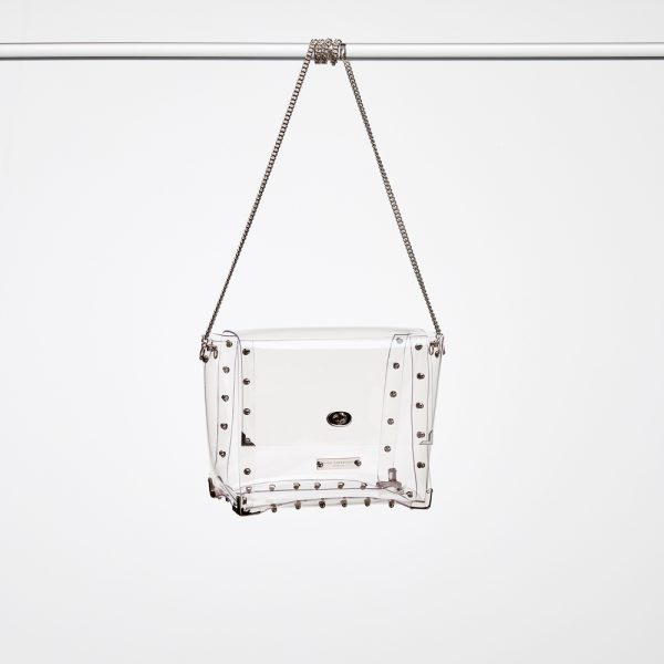 Design Nancy Transparent Handbags Silver