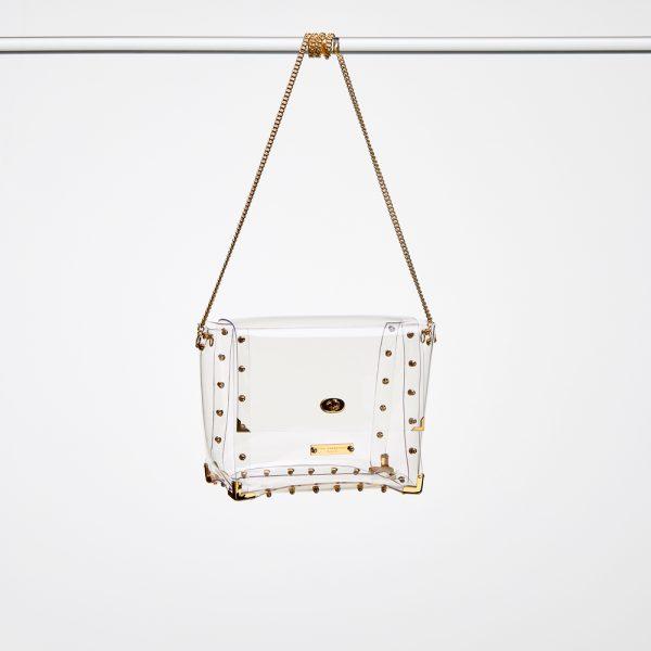 Design Nancy Transparent Handbags Gold