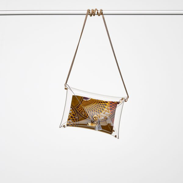 Design Sandra Transparent Handbags Gold Berlin