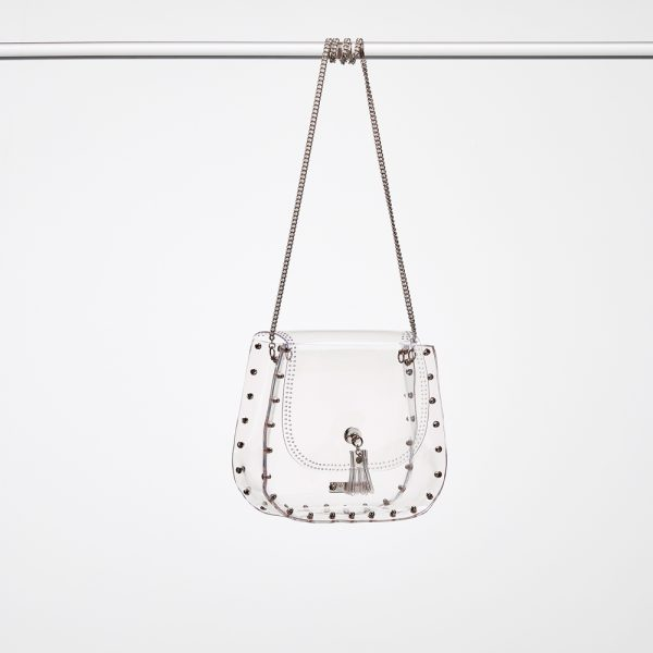 Design Caroline Transparent Handbag Silver