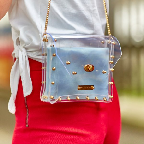 Design Claire Transparent Handbag Gold Streetstyle
