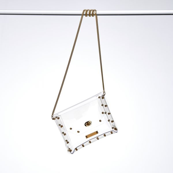Design Claire Transparent Handbag Gold