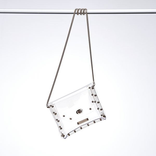 Design Claire Transparent Handbag Silver