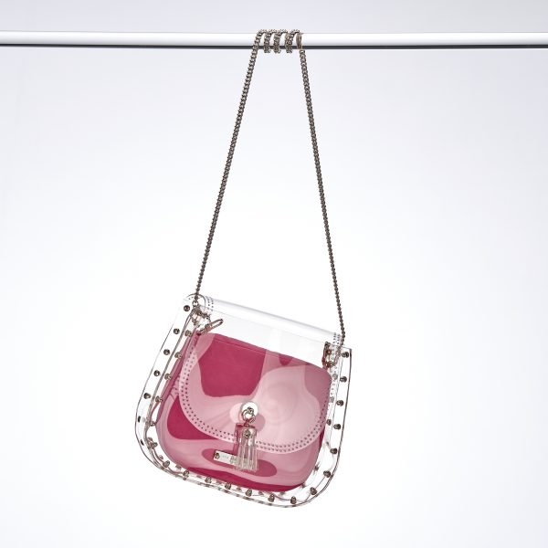 Saddle Bag Silber Rose