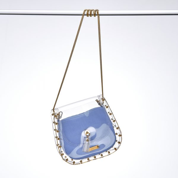 Design Caroline Transparent Handbag Gold