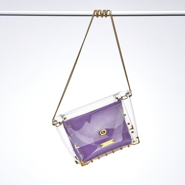 Nancy Design Transparent Handbag Gold
