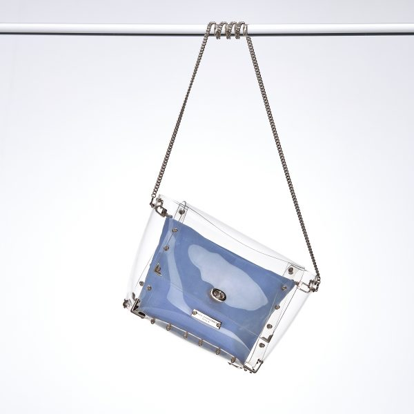 Design Nancy Transparent Handbag Silver