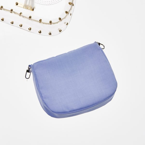 Pouch Transparent Saddle Bag Blue