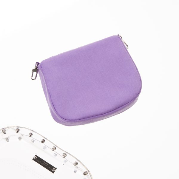 Pouch Transparent Saddle Bag Lilac