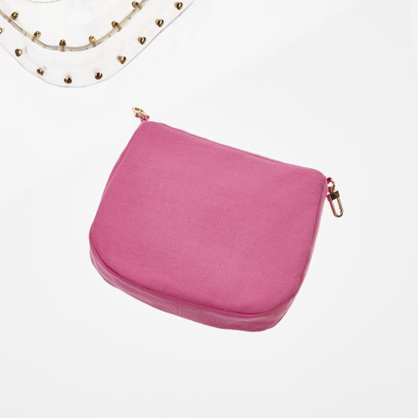 Pouch Transparent Saddle Bag Pink