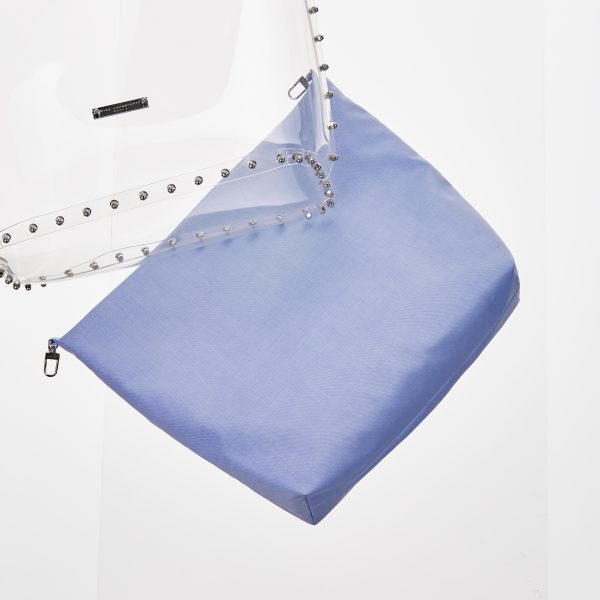 Pouch Transparent Shopper blue