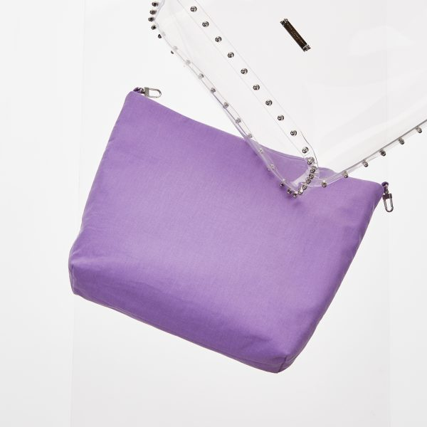 Pouch Transparent Shopper lilac
