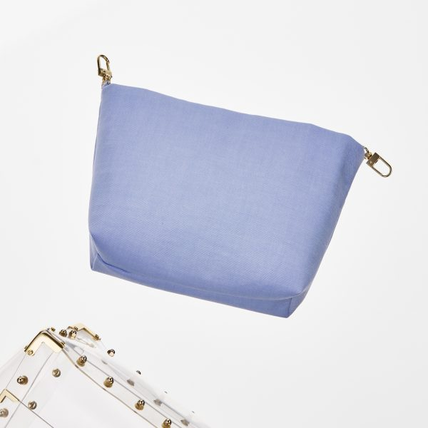 Pouch Transparent Trapez Bag Blue