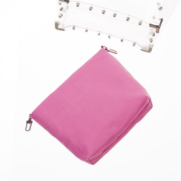 Pouch Transparent Trapez Bag Pink