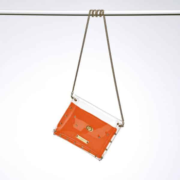 Transparent Clutch Claire gold orange